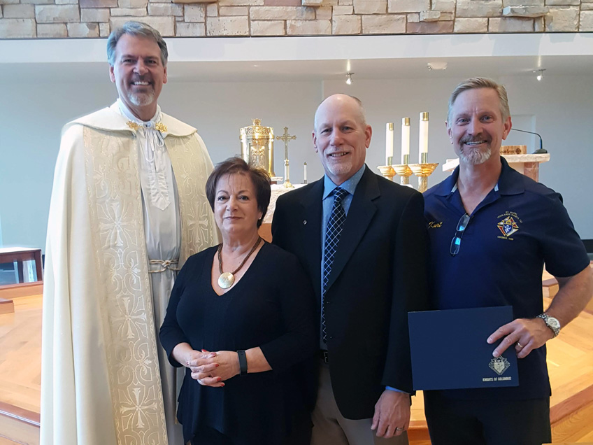 KofC Council 1498 October Family of the Month Neil and Malia Chapman